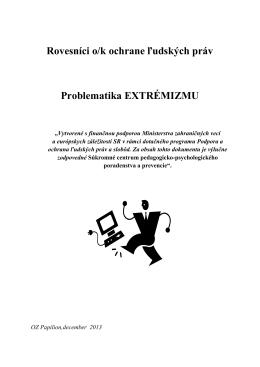 Extremizmus (.pdf) - rovesnicivprevencii.sk