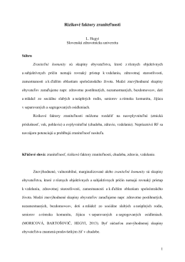 Príčiny marginalizácie seniorov v slovenskej spoločnosti