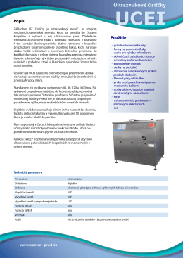 Prospekt UCEI - S PoweR product sro