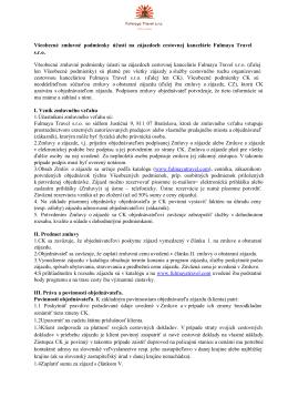 Všeobecné zmluvné podmienky účasti na