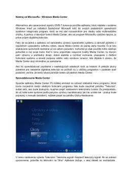 Návod - Príjem DVB-T vysielania v programe