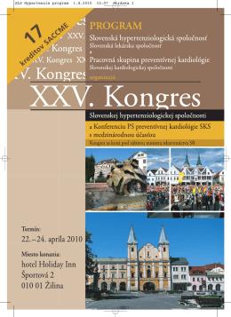 Program kongresu. - Slovenská Hypertenziologická Spoločnosť