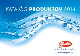 KATALÓG PRODUKTOV 2014