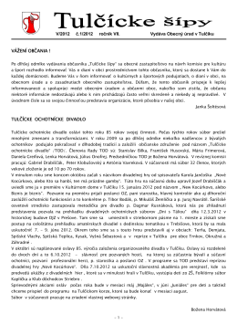 Tulčícke šípy 1/2012