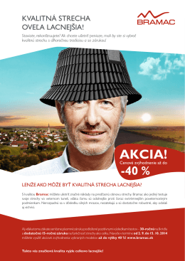 AKCIA! - Bramac