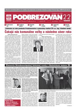 PDF verzia - Podbrezovan