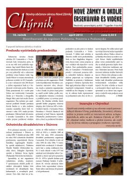 Noviny občanov okresu Nové Zámky Ochotnícke