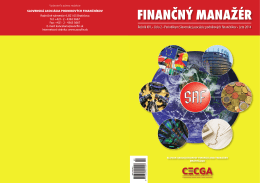 Finančný manažér 2/2014 - Slovenská asociácia podnikových