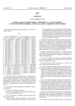 333 ZÁKON z 30. októbra 2014, - Ministerstvo spravodlivosti SR