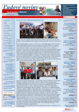luno.hu | OnLine LuNo Portál | Ľudové noviny