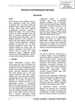 PROCESY ELEKTRONICKÉHO OBCHODU