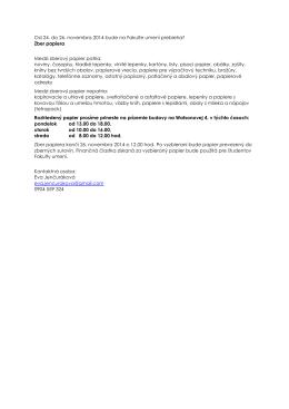 Od 24. do 26. novembra 2014 bude na Fakulte umení prebiehať