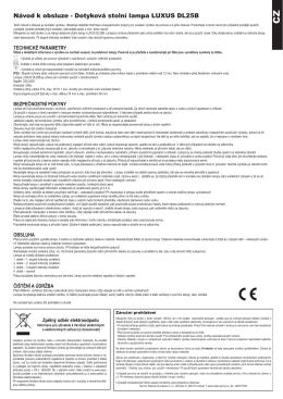 Dotyková stolní lampa LUXUS DL25B