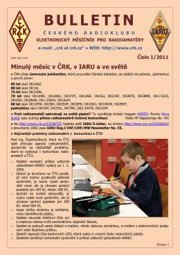 Bulletin ČRK č. 1/2011