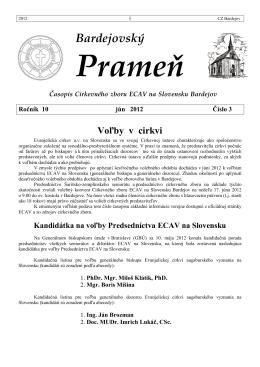 Bardejovský Prameň 3/2012