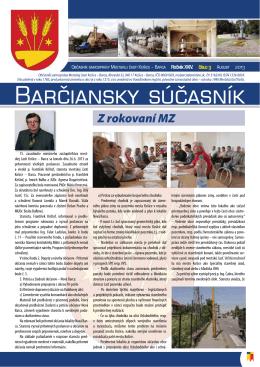 barčiansky súčasník - august 2013