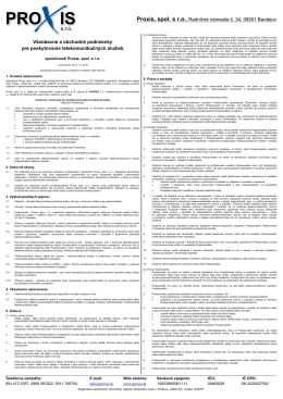 Pôvodné všeobecné podmienky platné do 01.06.2012