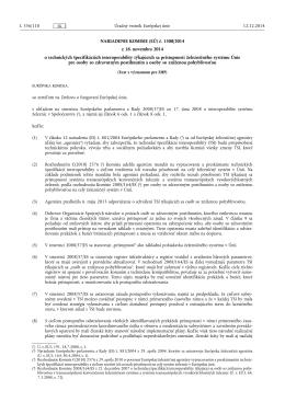 NARIADENIE KOMISIE (EÚ) č. 1300/ 2014