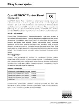 QuantiFERON Control Panel