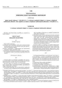 úplné znenie zákona č. 122/2013 Z. z. o ochrane