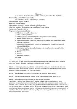 Zápisnica, uznesenie 27.8.2014