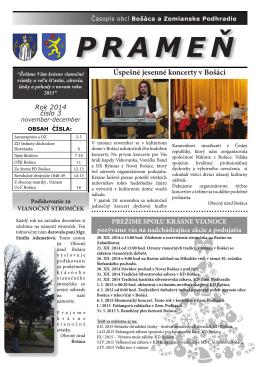 Časopis Prameň december 2014
