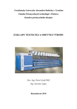 základy textilnej a odevnej výroby - kpd.tnuni.sk