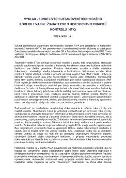 výklad jednotlivých ustanovení technického kódexu fiva pre