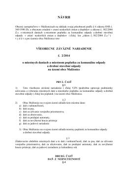 Návrh VZN 2-2014 o miestnych daniach...pdf