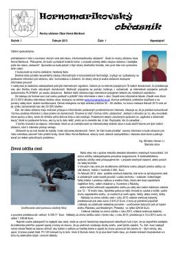 Hornomarikovský občasník, ročník I., č.1
