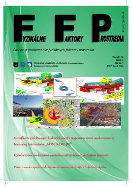 FFP 2013 / 1 - Fyzikálne faktory prostredia