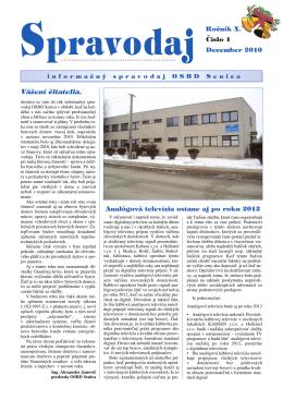 Spravodaj 1/2010