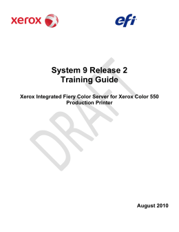 System 9 Release 2 Training Guide