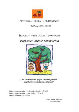 školský vzdelávací program zázračný strom prekvapení