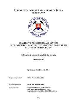hodnotenie monitorovania za rok 2011 v subsystéme 02