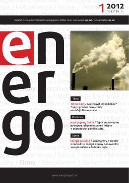 Prečítajte si editoriál - Energie
