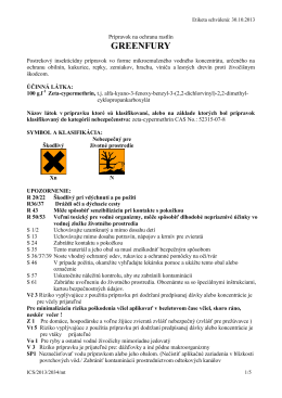 Etiketa prípravku GREENFURY (PDF)