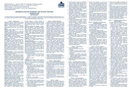 Všeobecné poistné podmienky a zmluvné dojednania