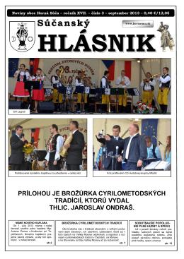 Súčanský hlásnik 2013 číslo 3, pdf