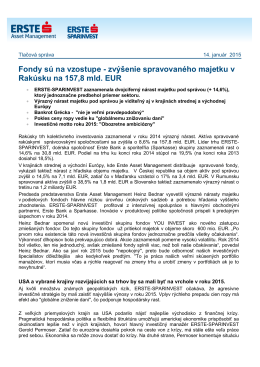 zvýšenie spravovaného majetku v Rakúsku na 157,8 mld. EUR
