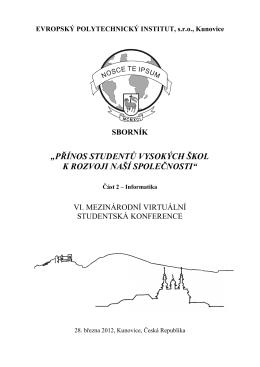 Sbornik VI. 03/2012 - Evropský polytechnický institut, sro