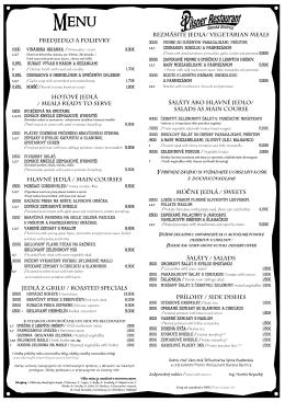 Jedálny lístok - PilsnerRestaurant.sk
