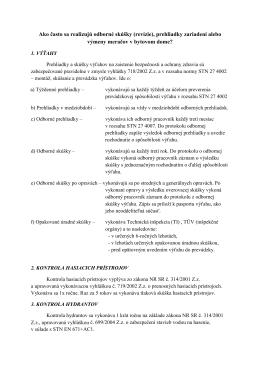 Ako často sa realizujú odborné skúšky (revízie), prehliadky
