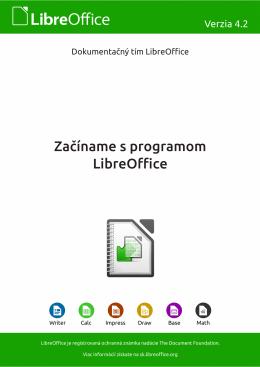 Začíname s programom LibreOffice 4.2