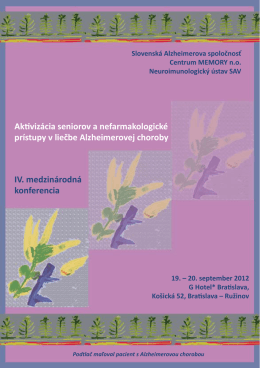 pozvánka - Alzheimer.sk