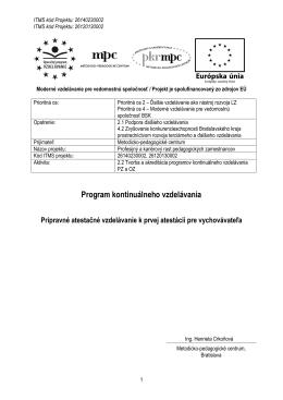 Program kontinuálneho vzdelávania