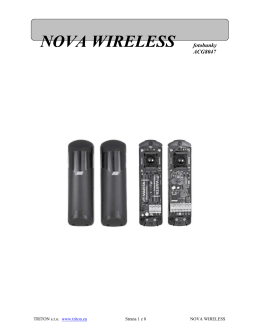 NOVA WIRELESS fotobunky