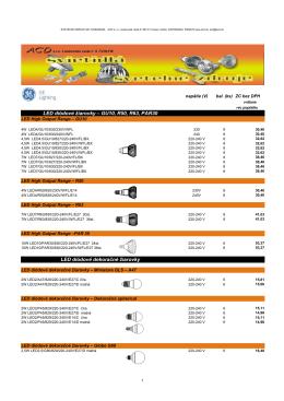 LED diódové žiarovky – GU10, R50, R63, PAR30 LED