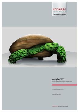 senoplan® HPL Technické Informácie použitie v exteriéri