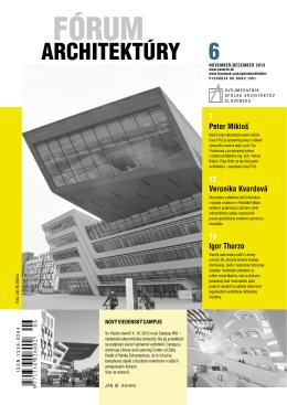 Fórum architektúry_6-2013.pdf - Spolok architektov Slovenska